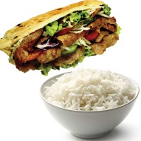 Doner Kebab with Rice